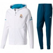 Achetez Survetement Football Real Madrid 2017/2018 Capuche Homme Blanc