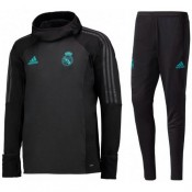 Survetement Football Real Madrid 2017/2018 Capuche Homme Noir Acheter