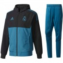 Survetement Football Real Madrid Ligue Des Champions 2017/2018 Capuche Homme Bleu Paris