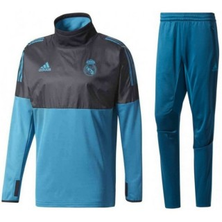 Survetement Football Real Madrid Ligue Des Champions 2017/2018 Homme Bleu Soldes