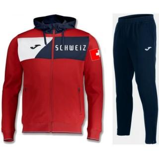 Magasin Survetement Football Suisse 2018/2019 Capuche Homme Rouge Paris