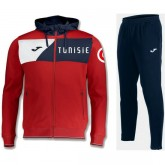 Survetement Football Tunisie 2018/2019 Capuche Homme Rouge Boutique
