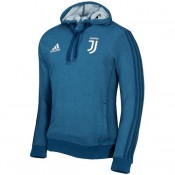 France Sweat Foot Juventus 2017/2018 Capuche Homme Bleu
