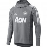 Prix Sweat Foot Manchester United 2017/2018 Capuche Homme Gris