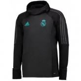 Magasin Sweat Foot Real Madrid 2017/2018 Capuche Homme Gris-F Paris
