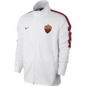 Veste Foot AS Roma 2017/2018 Homme Blanc Soldes Nice