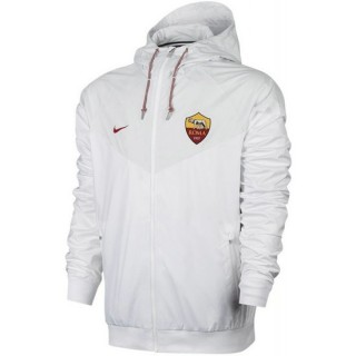 Veste Foot AS Roma 2017/2018 Homme Blanc France Magasin