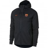 Veste Foot Barcelone 2017/2018 Capuche Homme Noir Site Officiel