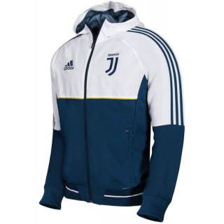 Veste Foot Juventus 2017/2018 Capuche Homme Blanc Boutique France