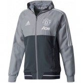 La Boutique Officielle Veste Foot Manchester United 2017/2018 Capuche Homme Gris