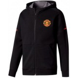 Veste Foot Manchester United Enfant 2017/2018 Capuche Noir Paris Boutique