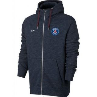 FR Veste Foot PSG Paris Saint Germain 2017/2018 Capuche Homme Bleu
