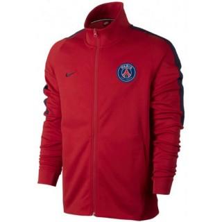 Veste Foot PSG Paris Saint Germain 2017/2018 Homme Rouge Soldes Paris