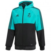 Achat Veste Foot Real Madrid 2017/2018 Capuche Homme Fluo