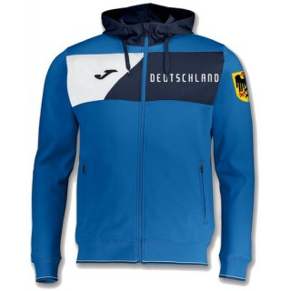 Veste Survetement Allemagne 2018/2019 Capuche Homme Bleu-Jaune Ventes Privées