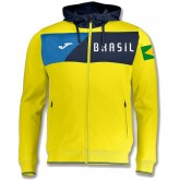 Vente Privee Veste Survetement Bresil 2018/2019 Capuche Homme Jaune