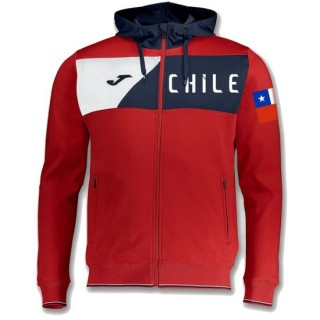 Soldes Veste Survetement Chili 2018/2019 Capuche Homme Rouge