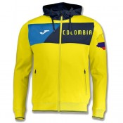 Veste Survetement Colombie 2018/2019 Capuche Homme Jaune Lyon
