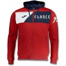 Veste Survetement Equipe de France 2018/2019 Capuche Homme Rouge Officiel