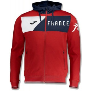 Veste Survetement Equipe de France 2018/2019 Capuche Homme Rouge Officiel