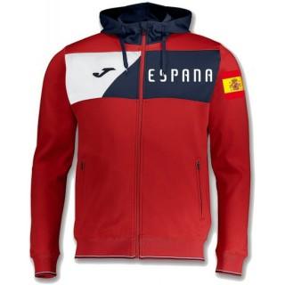 Solde Veste Survetement Espagne 2018/2019 Capuche Homme Rouge