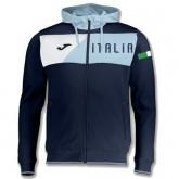 Vente Nouveau Veste Survetement Italie 2018/2019 Capuche Homme Marine
