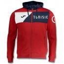 Veste Survetement Tunisie 2018/2019 Capuche Homme Rouge En Soldes