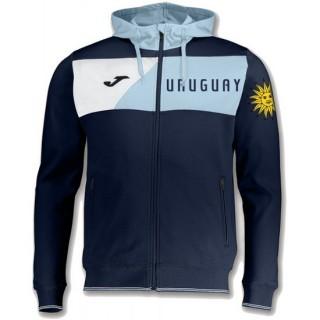 Veste Survetement Uruguay Enfant 2018/2019 Capuche Marine Soldes
